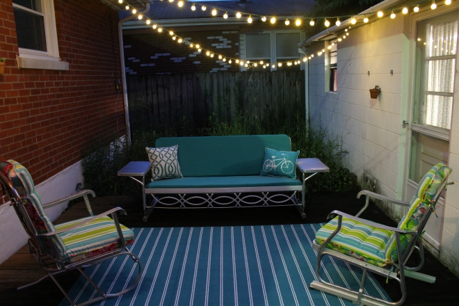 My evening patio oasis