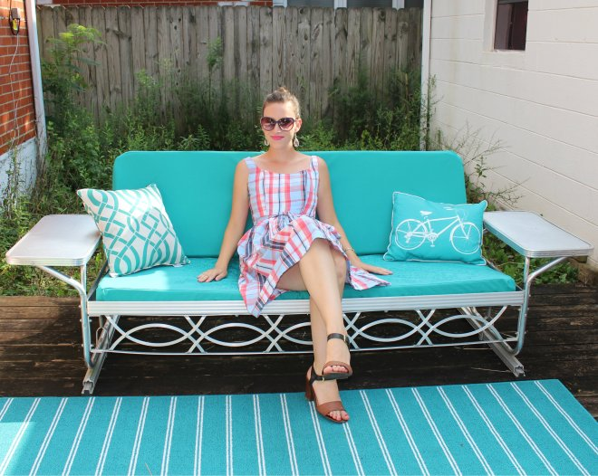 Chilin' on my new patio cushions :)