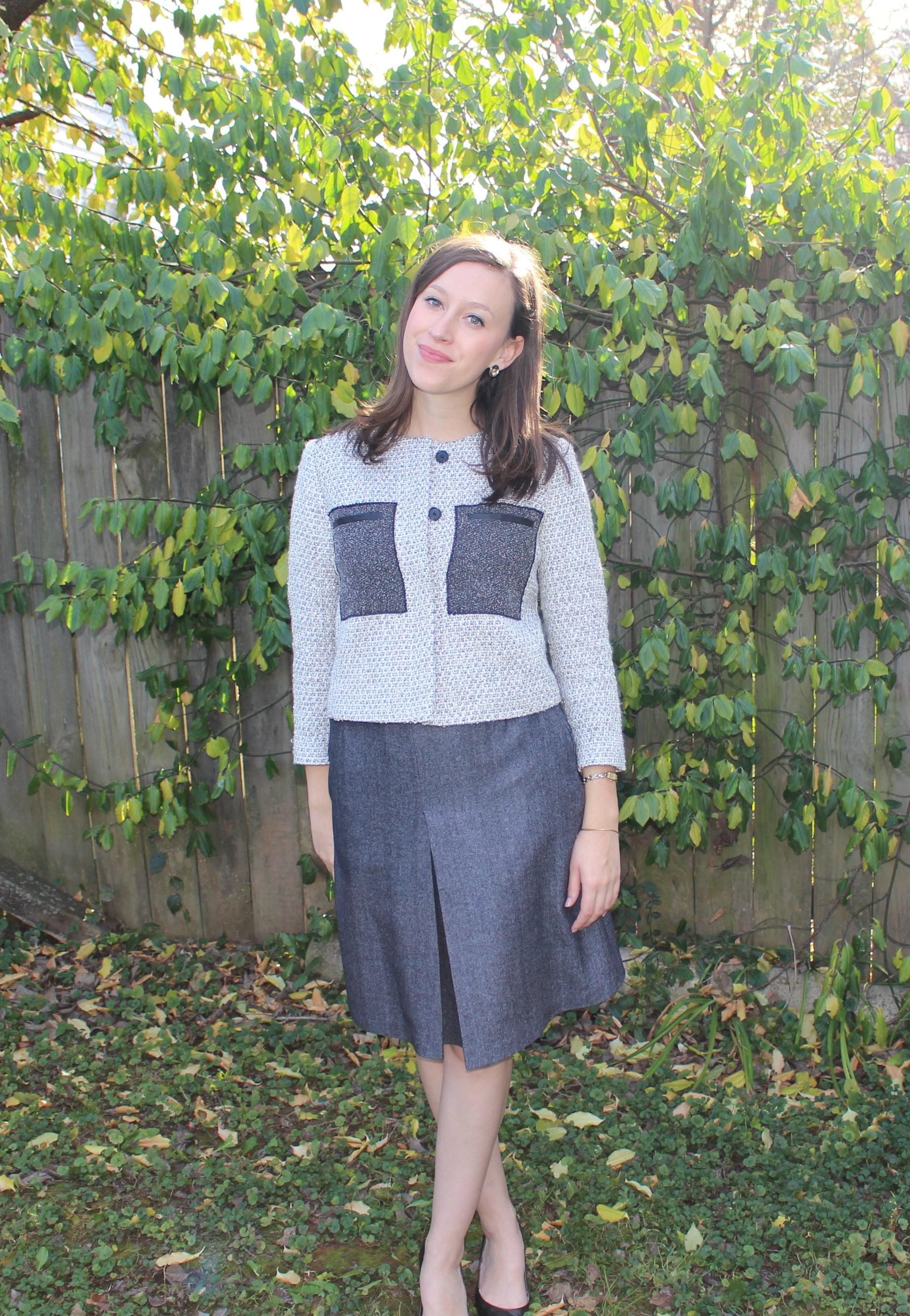 jacket skirt combo
